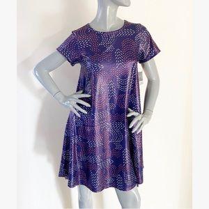 NEW LulaRoe Carly Purple Metallic Swing Dress